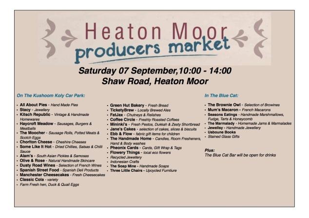 HM Market, Sat 7 Sept 2013
